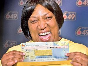 """""""Can you see my cheque- Lottery chose me"""""""