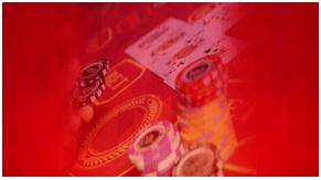 Poker Cards Under Screening