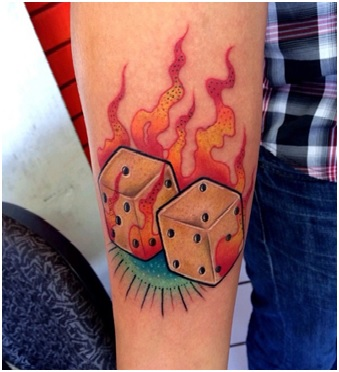 The Sun With Flames Tattoo