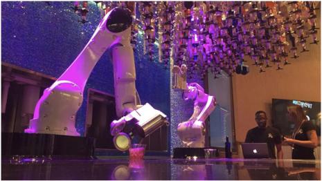 Robots working as Las Vegas Bar tenders