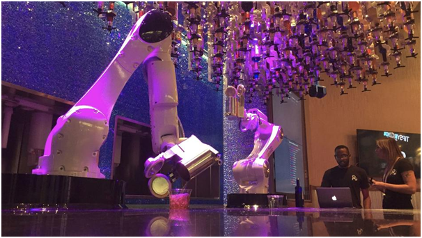 Robots working as Las Vegas Bar tenders