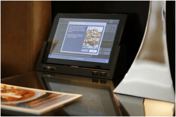 Tablets used as room service in Las Vegas