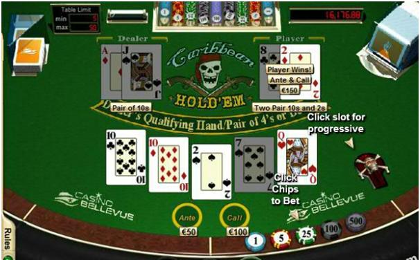 Caribbean Holdem poker winner