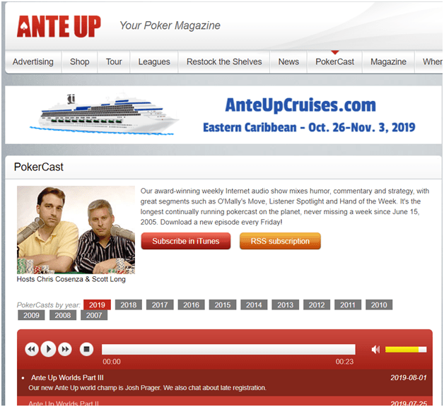 Ante Up Podcasts
