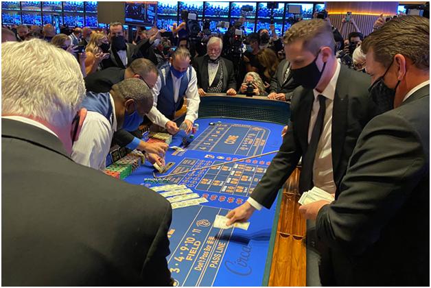 Circa casino and resort Craps table