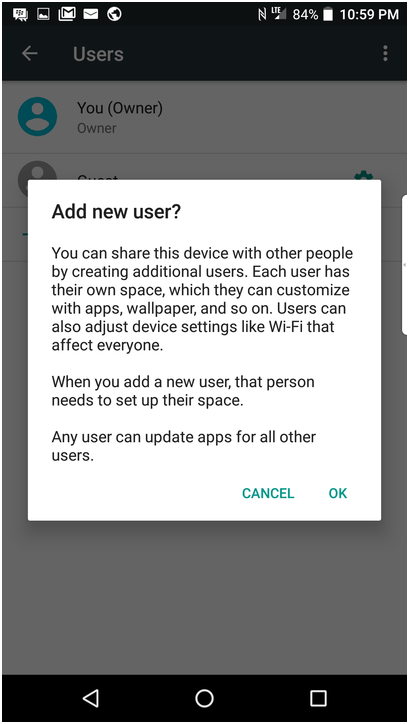 Adding a new user