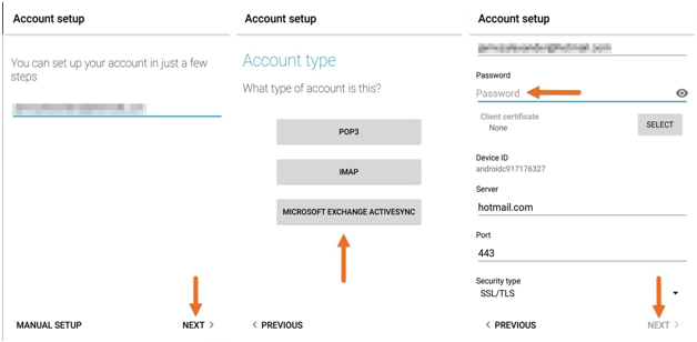 You can add a Microsoft Exchange Active Sync email account