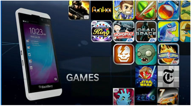 How to download free game apps on Blackberry mobile?