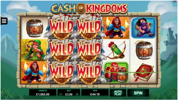 Features Cash of Kingdoms pokies