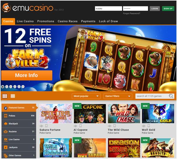 Emu casino Blackberry