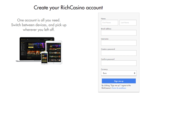 Rich Casino- How to get started with your BB