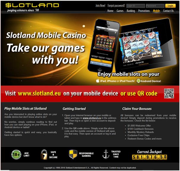 Slotland Casino Blackberry