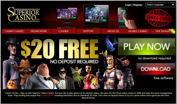 Superior casino Australia- Banking