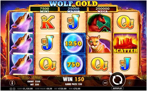 Wolf Gold Jackpot wins
