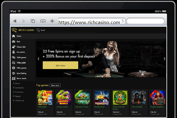Rich Casino iPad