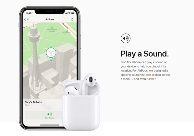 Play a sound to find your iPad
