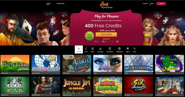 Royal Vegas fun casino homepage