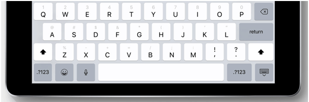 New Key Flick feature in Keyboard for iOS 11 in iPad