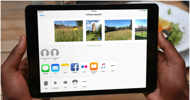 How to use airdrop on an ipad handy tool to send your photos videos ccuart Images