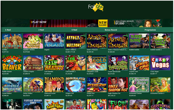 Fair Go Casino games