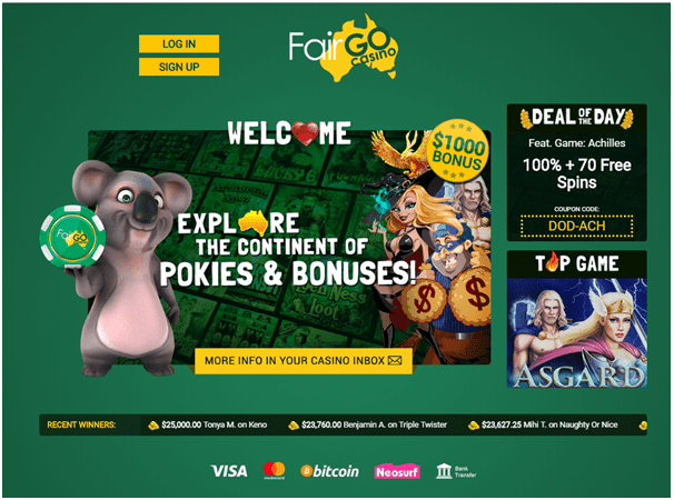 Fair Go Casino for iPad