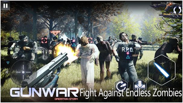 Gun war game app