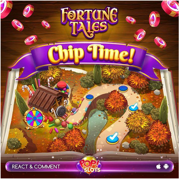 Getting free coins, free chips, rewards in Pop Slots