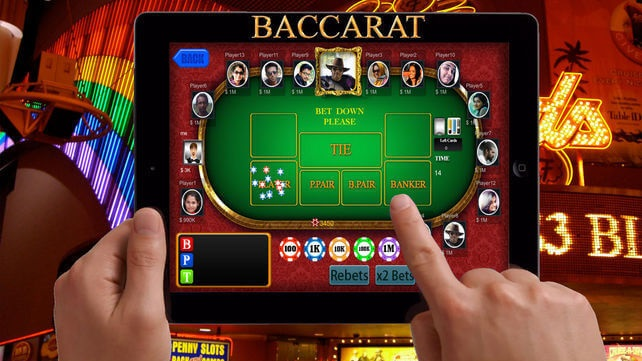 Play for real Baccarat on iPad