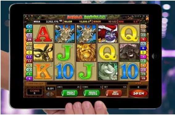 Mega Moolah pokies on iPad