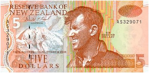 5 Dollar with Sir Edmund Hillary