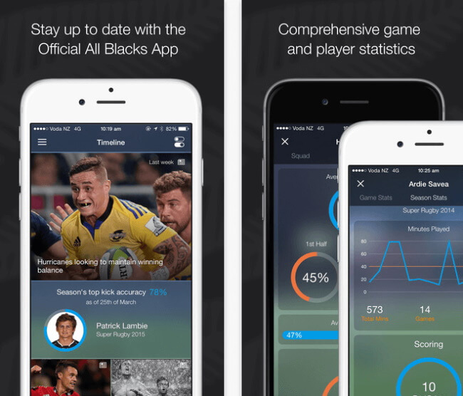 All Blacks Rugby Union App