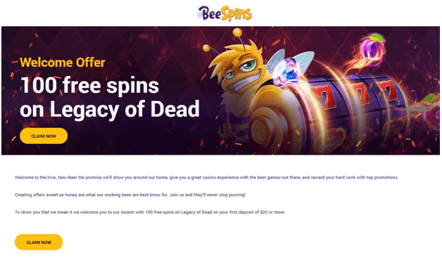 Bee spins pokies free spins