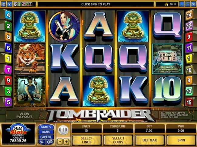Can I win real money playing Tomb Raider Pokies