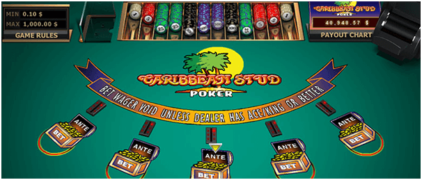 Caribbean stud poker on mobile