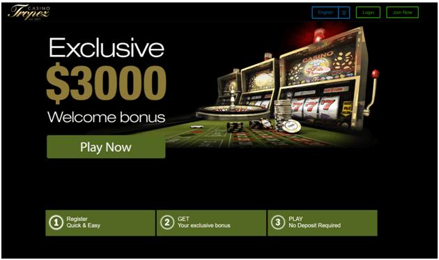 Casino Tropez NZ welcome bonus