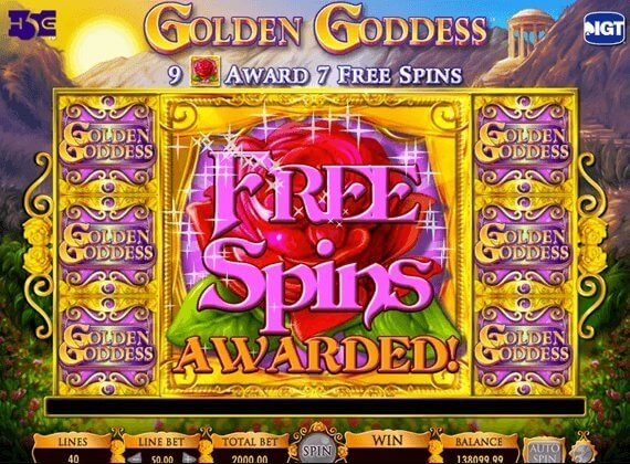 Free spin in pokies