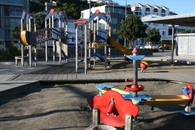 Freyberg Beach Playground, Oriental Bay
