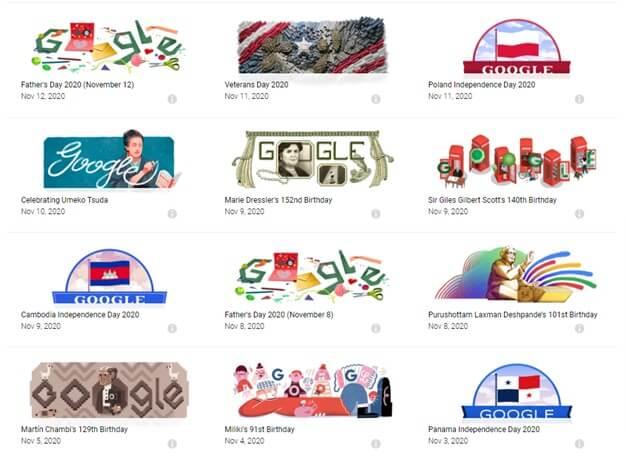 Google for doodle games