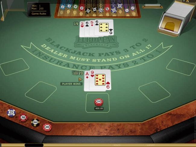 Highlimit stakes in High Limit European Blackjack