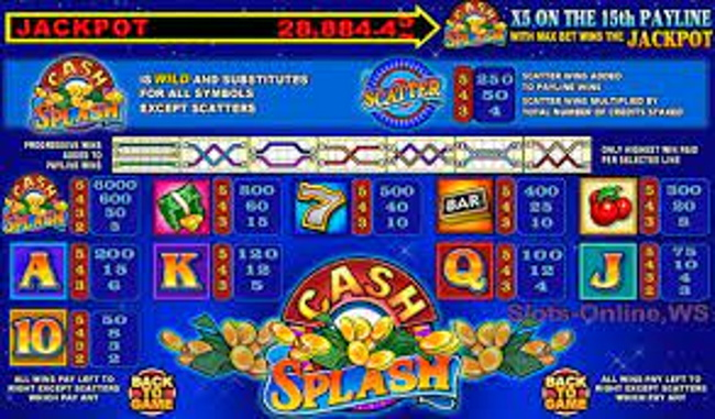 How to play Cash Splash 5 reel