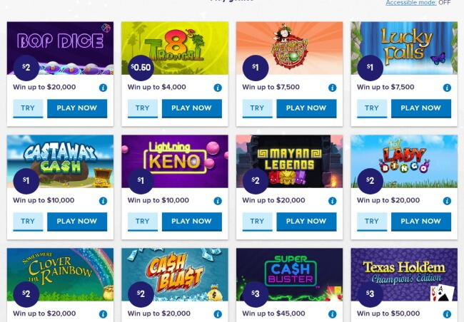 Play new lotto games,