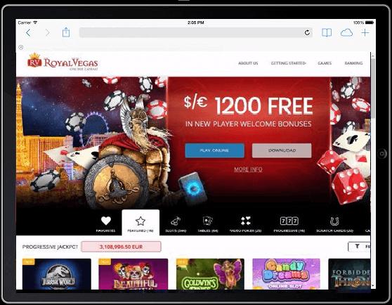 Royal Vegas iPad
