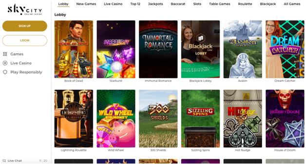 Skycity online casino welcome bonus