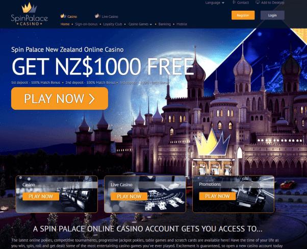 Spin palace casino NZD