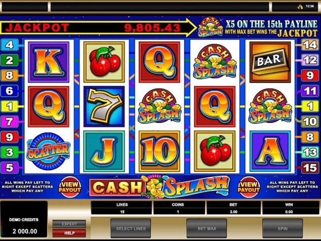 Symbols in Cash Splash