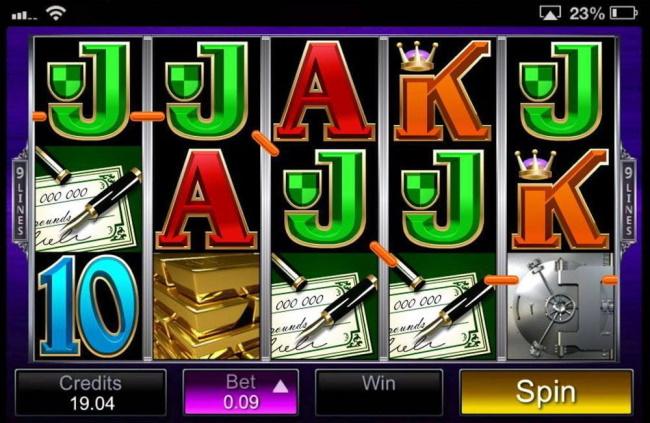 The free spin bonus in break da bank again