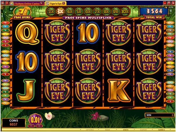 Tiger's eye free spins