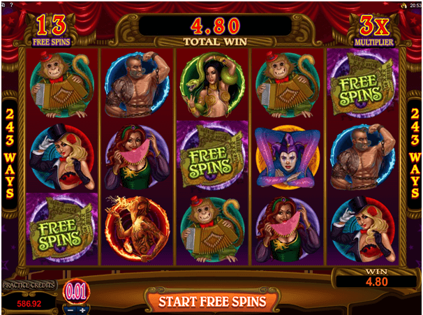 Free Spins in Twisted Circus