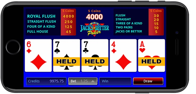 Video poker at Royal Vegas Casino