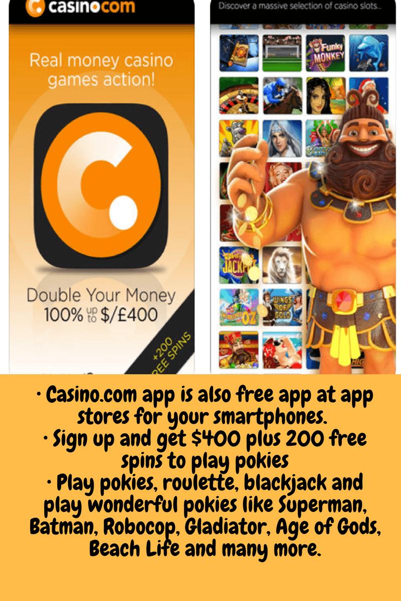 Casino.com pokies for mobile app